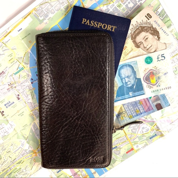 hugo boss passport holder